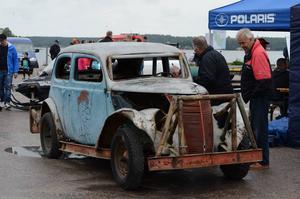 Stock-car var en populär motorsport, och den gamla tävlingsbilen som SMK Hälsinge har är ett av få bevarade exemplar.
