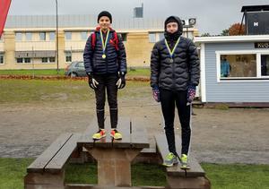 Pallen i klassen pojkar 7-9. Vann gjorde Oskar Vikström , Heliås Sidsjön, med tiden 22.06. Tvåa blev Tore Palmgren , Mimerskolan och trea Hannes Lindahl , Höglundaskolan.
