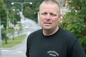 Jens Forsberg, banchef under för-VM på rullskidor.
