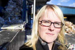 Marlene Stjernberg vädjar till Östersundsborna att sortera rätt.