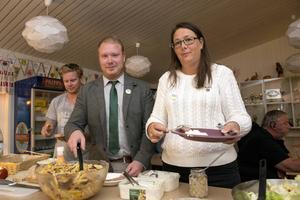 Robert Thunfors och Lotta Borg i Nätverk Timrå.