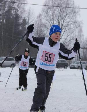 Lian Alm-Eriksson och Petter Norling verkade ha använt rätt valla för dagens skidföre.