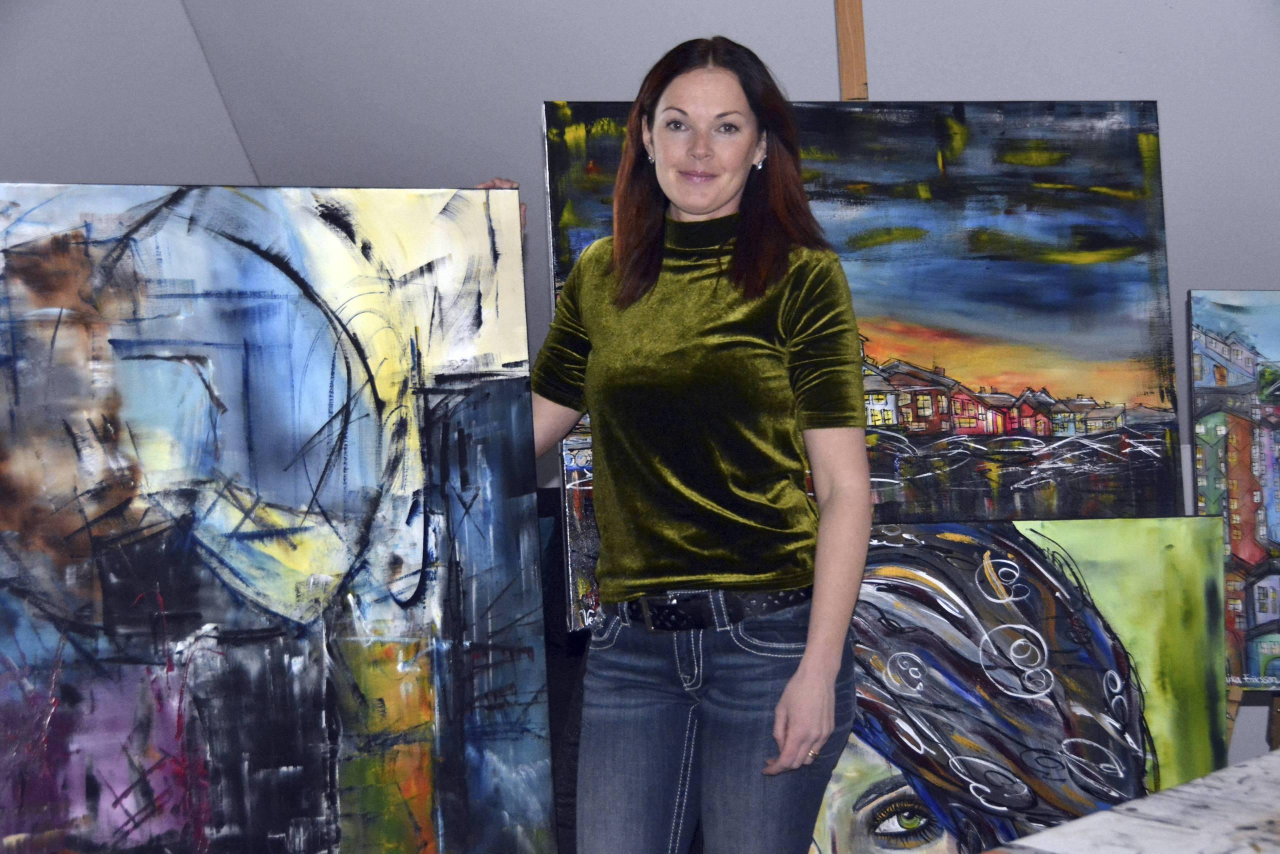 Folk blir glada av hennes konst