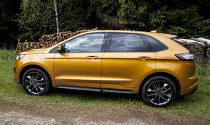 På avstånd har Edge drag från Honda CR-V och Range Rover Evoque.