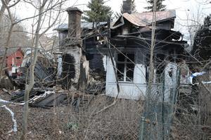 Polisens utredning om villabranden på Östra Storgatan i Ludvika väntas bli nedlagd.