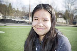 Sara Sjölén, 13, bryr sig inte så mycket om beskedet att det nu bara blir svensk skolmat.
