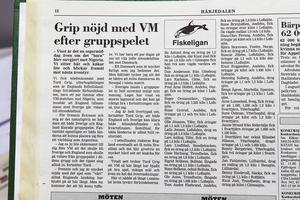 En av många artiklar om Tord Grip som Leif skrivit genom åren. Här handlar det om gruppspelet i VM 2002, då både Sverige och England gick vidare. Tord Grip var assisterande förbundskapten i England. Han var såklart nöjd med lagets insats.