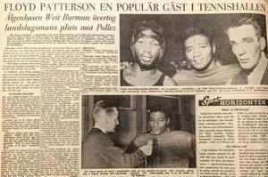 Pattersons besök på Östersunds boxningsklubb BK Älgen gav både fullt hus och extra energiska boxare.