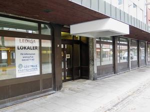 Swedbanks lokaler på Hyttgatan efter flytten till gallerian Dalbacken 21.