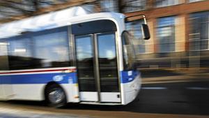 VL-buss på annan linje än den nu aktuella.