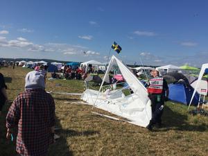 Festivalcampingen på Bråvalla – som att kastas århundranden tillbaka i tiden, enligt Arbetarbladets utsände Mohamed Touzari.