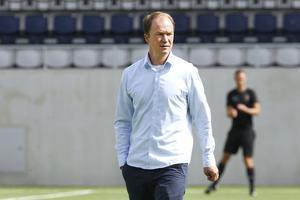 Gefles nya tränare Thomas Andersson inför Gefle IF – Falkenbergs FF på Gavlevallen i Gävle.