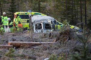 Olyckan skedde i korsningen till Sandnäset strax efter klockan 8 på tisdagsmorgonen.
