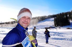 Micke Sollander, Bollnäs, trivdes i skidspåret.