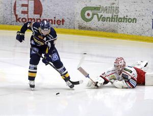 Mathias Månsson gjorde 2–0-målet för Sundsvall Hockey.