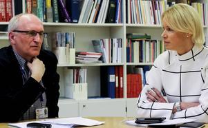 Lars-Erik Olofsson (KD), gruppledare i regionfullmäktige, och Saila Quicklund (M), riksdagsledamot och ordförande för Moderaterna i Jämtlands län. De vill inte att länet ska ingå i en storregion.