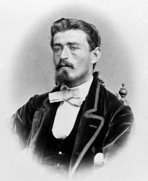 Arkitekgeniet Adolf Emil Melander i sina yngre dagar. Vid den här tiden hade han börjat bli omskriven av utländska tidningar och kallades det skandinaviska geniet.
