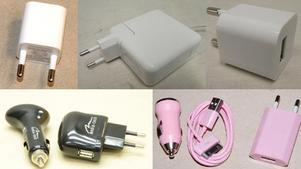 Tio USB laddare stoppas ???kan orsaka elchock och brand