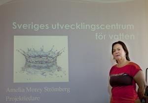 Amelia Morey Strömberg har jobbat med vattenfrågor i 30 år, varav sex år som va-utvecklare på Norrtälje kommun. Nu har hon i uppdrag att etablera ett utvecklingscentrum för vatten på Campus Roslagen.