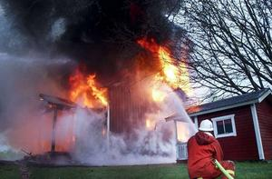 Värsta branden var i Hå där ett hus brann ner till grunden.
