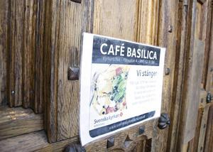 Café Basilica tvingas slå igen portarna efter nio års verksamhet.