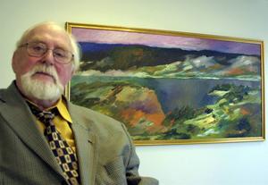 Curt Agge är en av utställarna i Gimåfors.