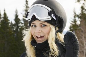 Jennifer Petersson säsongsarbetar i Åre. För henne var det första snowboardtävlingen någonsin.