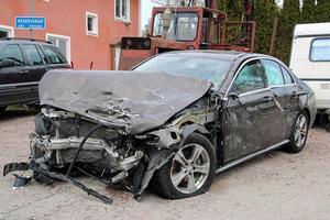 Bilen som kvinnan, hennes väninna och dotter färdades i.