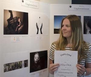 Olina Öhrn från Ljusdal vann en gulsdmedalj vid årets Foto-SM.