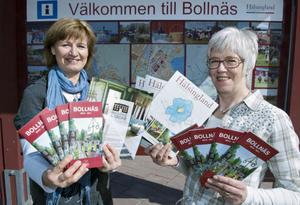 Carin Wallin och Christina Rosén presenterar årets turistutbud i Bollnäs.