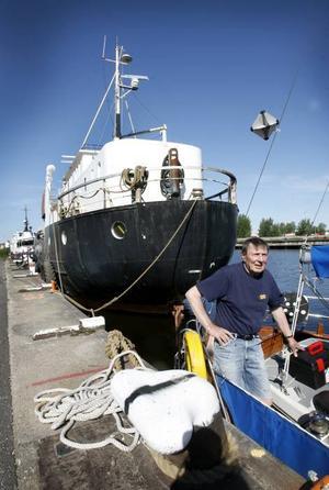 Usko Hannula ombord på sin motorseglare Karisma.