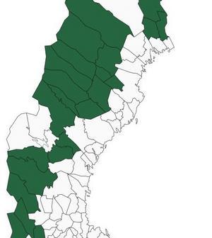 23 hårt pressade kommuner föreslås ta del av ett nytt stort statligt näringslivspaket. Älvdalen, Malung-Sälen, Vansbro. Pajala, Övertorneå, Överkalix, Jokkmokk, Arjeplog, Arvidsjaur. Sorsele, Storuman, Malå, Norsjö, Lycksele, Vilhelmina, Dorotea, Åsele. Strömsund, Ragunda, Bräcke, Berg, Härjedalen och Torsby.