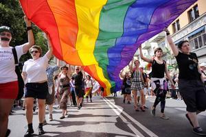 Stockholm Pride 2014 var Skandinaviens största Prideparad. 60 000 deltagare och mångdubbelt fler åskådare. Foto: TT