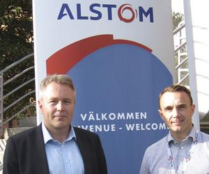 Fredrik Owman vd Alstom Grid Västerås, Fredrik Forsberg vd Alstom Hydro Västerås.