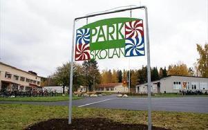 Parkskolan har varit utpekad som en problemskola. Nu pekas den också ut som en skola på väg upp.FOTO:ANDERS BJÖRKLUND