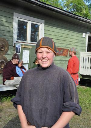 Holger Häggkvist, 13 år från Mörtån utanför Stugun, spelar i Arnljot för fjärde året i rad.
