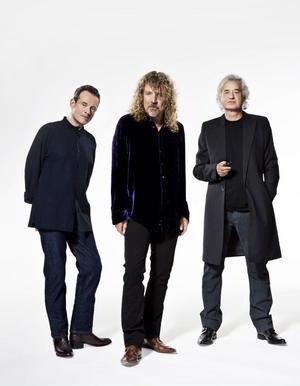 Tre tunga namn i Led Zeppelin. Från vänster John Paul Jones, Robert Plant och Jimmy Page.