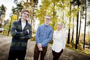 Filip Dyrelöv, Johan Lyrvall och Sanna Ericson tycker att sammanhållningen i klassen har blivit bättre.