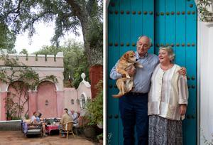 Finca Buenvino i Andalusien är omgivet av stora korkekar. Det drivs av Sam och Jennie Chesterton.