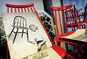 Stolarna Fanett och Mademoiselle blev storsäljare i Sverige på 1950-talet. Formgivare var finländaren Ilmari Tapiovaara.
