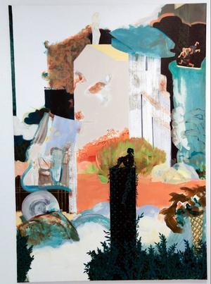 På Galleri Remi visar Åsa Hällgren Lif färgstarka målningar som växlar mellan det helt abstrakta, det avbildande och även något som kan sägas ligga lite mitt emellan.