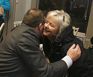 Inger Nygren är gammal klasskamrat med Stefan Löfven. Det blev ett kärt återseende.