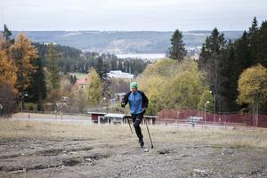 Kristoffer brukar träna i snitt en gång i veckan i Ladängen.