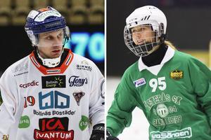 Patrik Nilsson och Malin Persson, två av kandidaterna till årets spelare.