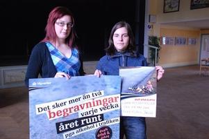 Maja Frost och AnnSofi Wikström kommer den 10e maj att anordna en informationsdag om rattfylleri.