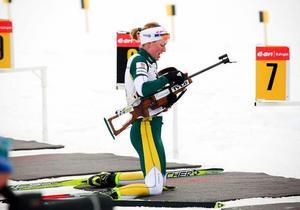 Världscupdrottningen Helena Jonsson hade lite svårt med både motivation och fokus. Men det blev ändå ett SM-brons till slut.