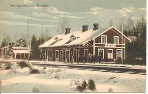 Järnvägsstationen  i Skutskär.