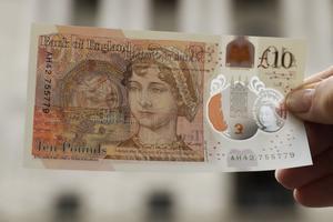 Jane Austen pryder en ny brittisk sedel.