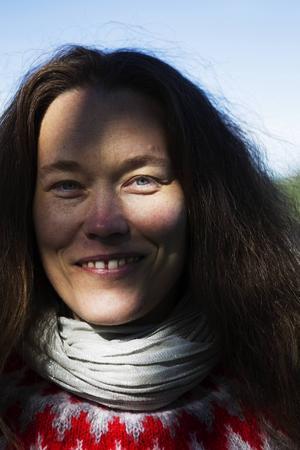 Åsa Maria Hedbergs känselmodell av Hoverberget för synskadade invigs.