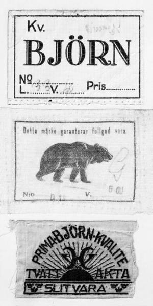 Björnen blev tidigt en symbol för arbetskläderna.